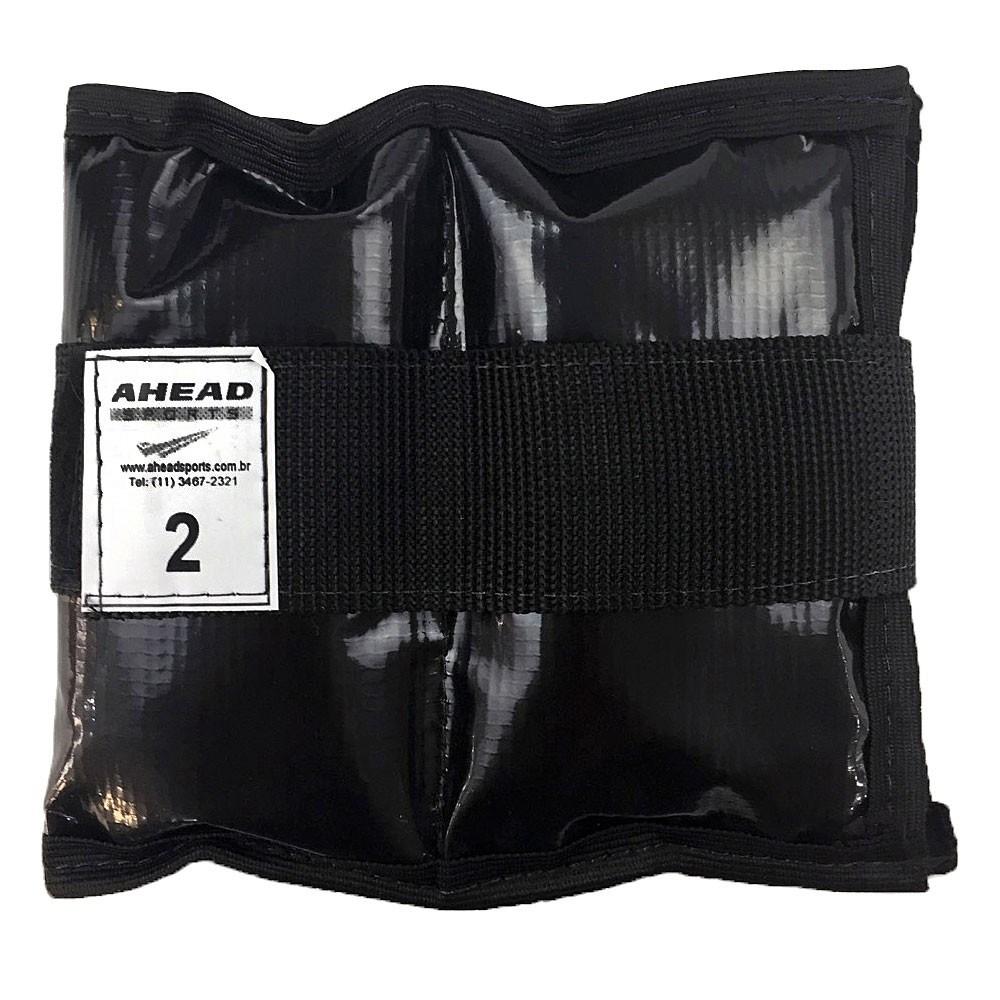 Caneleira de peso Ahead Sports AFF336 2kg Preta
