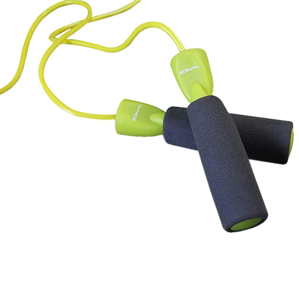 Corda de Pular com Rolamento Pegada com Espuma MD006 Verde