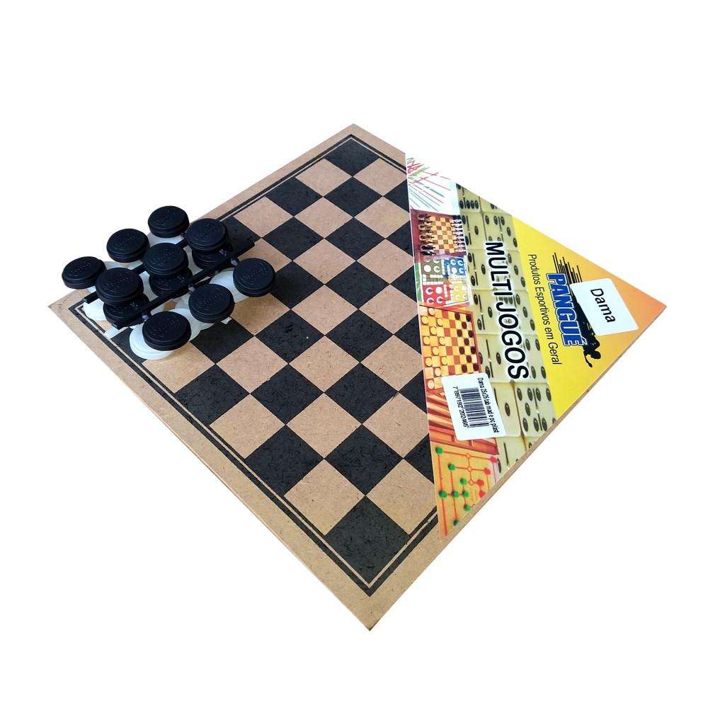 Jogo de Gamão Madeira Peças Plasticas 30X30 CM Pangue