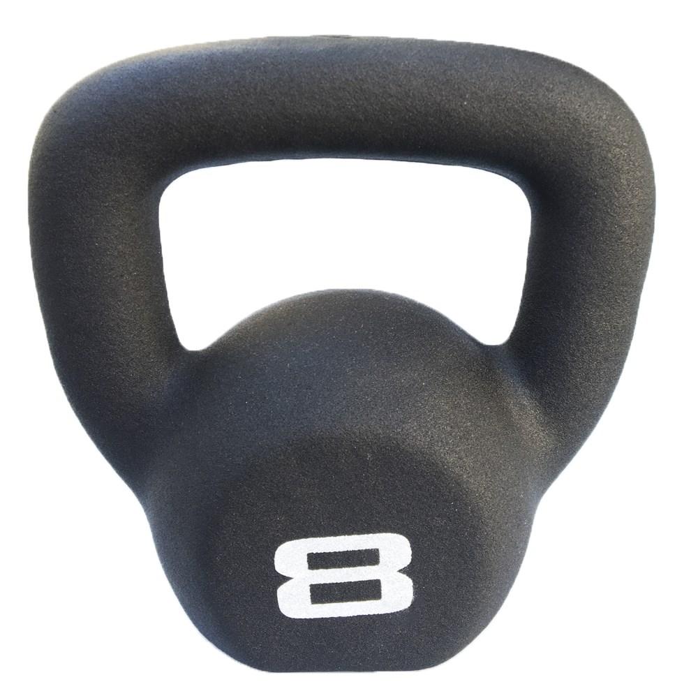 Kettlebel Revestido e Texturizado Ahead Sports - 8kg Preto