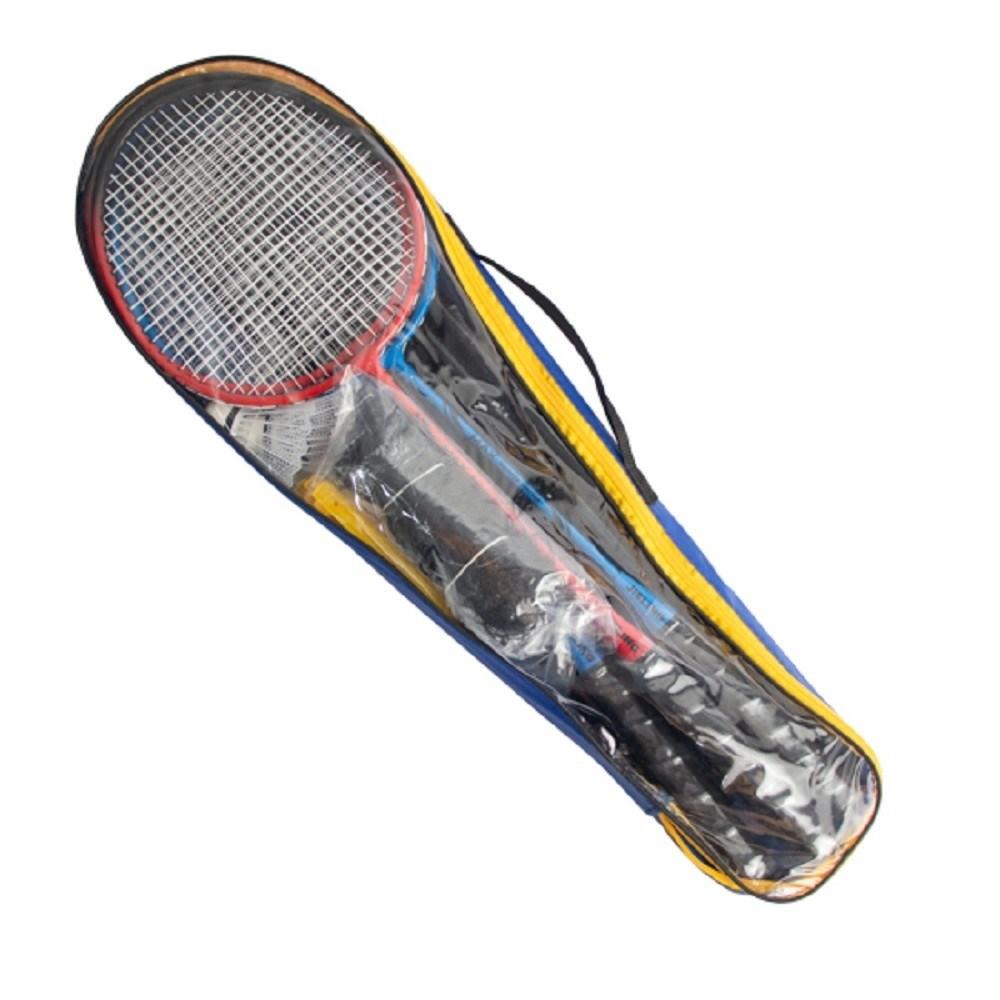 Kit Badminton 4 Raquetes 2 Petecas 1 Rede 1 Suporte + Bolsa Vollke
