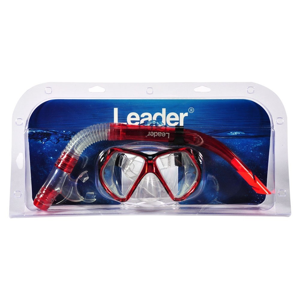 Kit Máscara + Snorkel Leader LD17