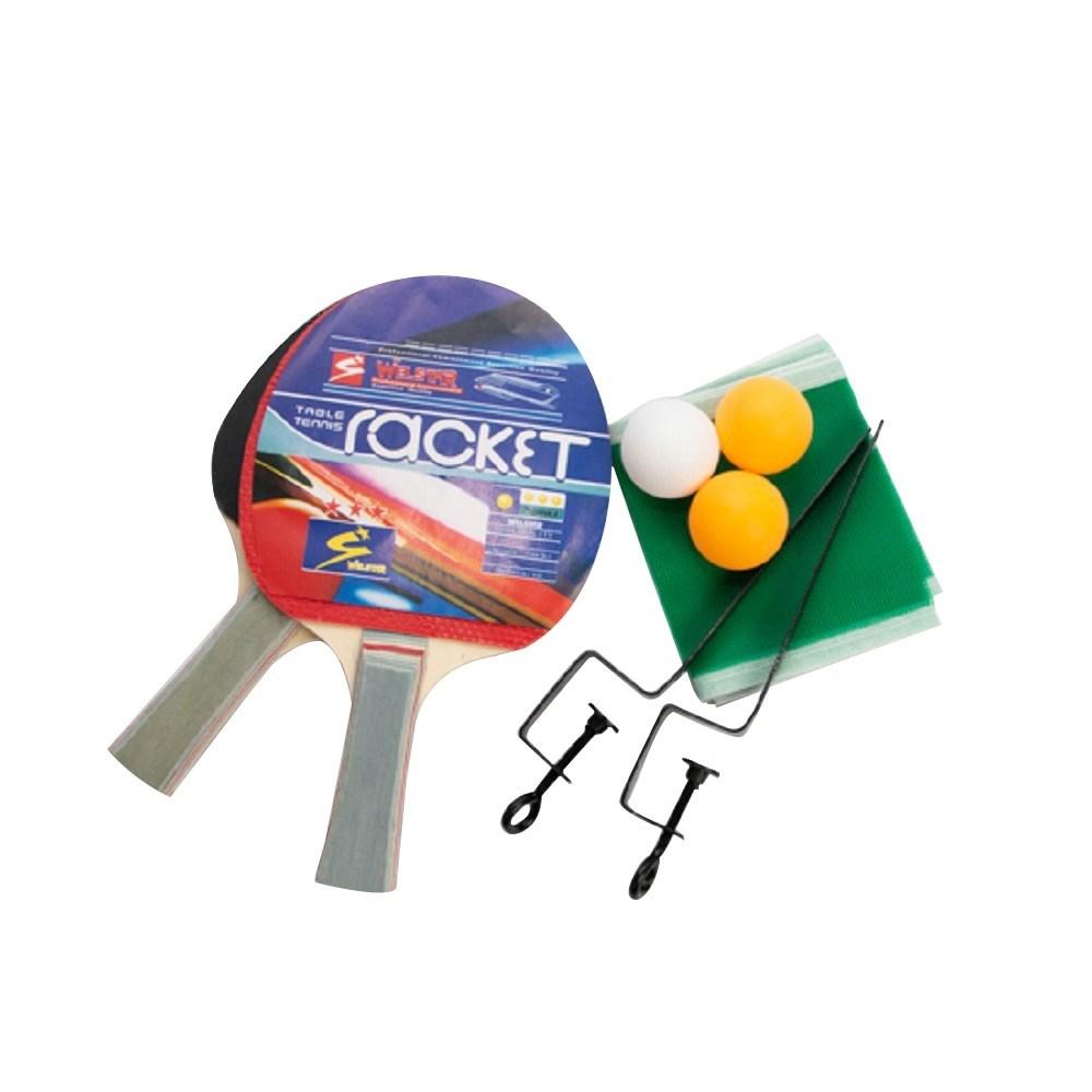 Kit Tênis de Mesa (Ping Pong) 2 Raquetes, 3 Bolas, Suporte, Rede e Bolsa vollke