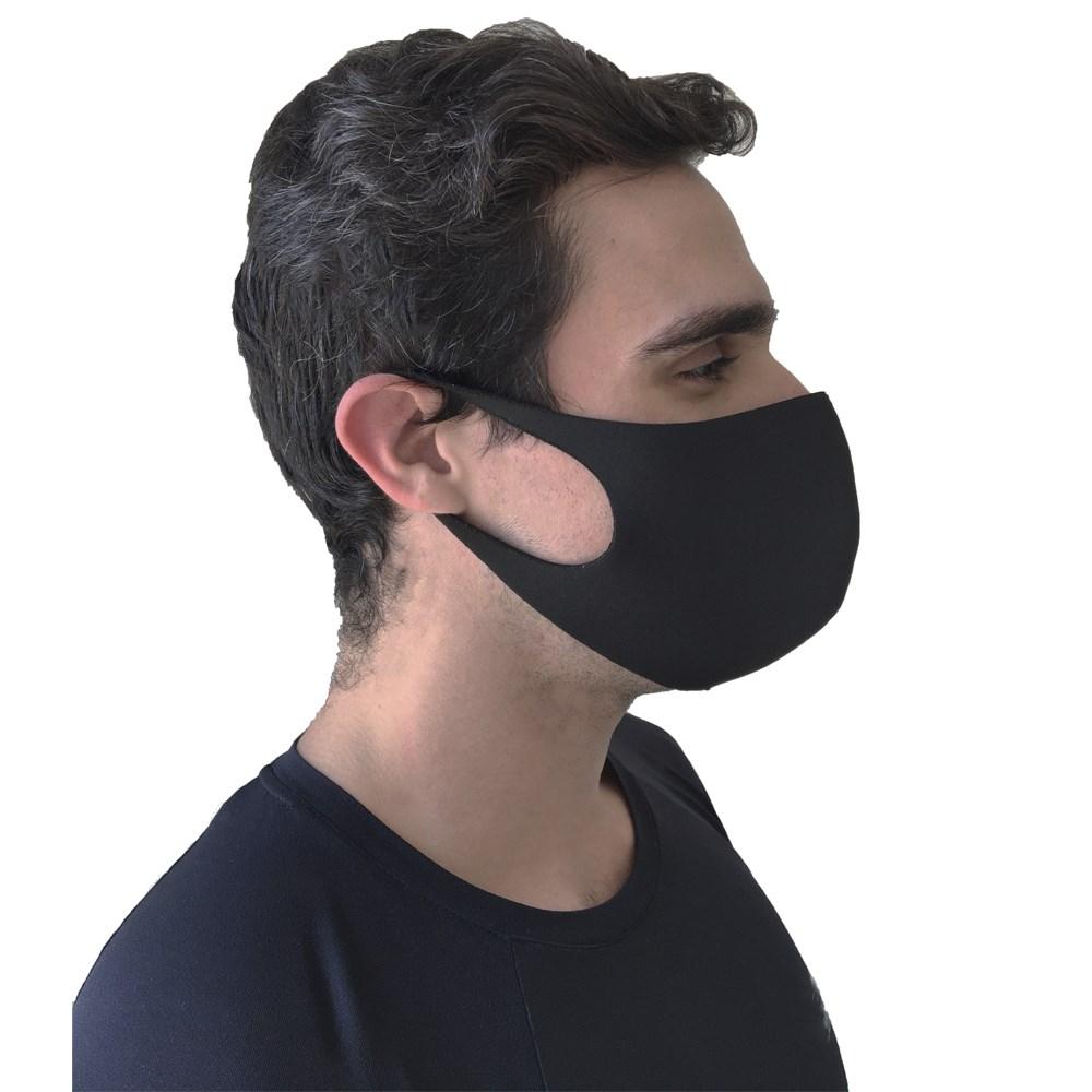 Máscara de Proteção Respiratória em Neoprene Lavável Preto