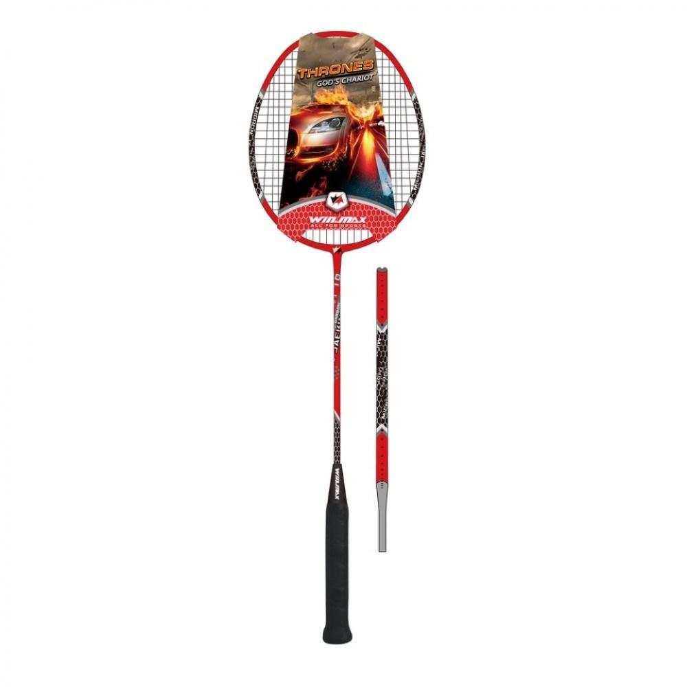 Raquete Badminton Thrones 300 Branco e Vermelho - Winmax
