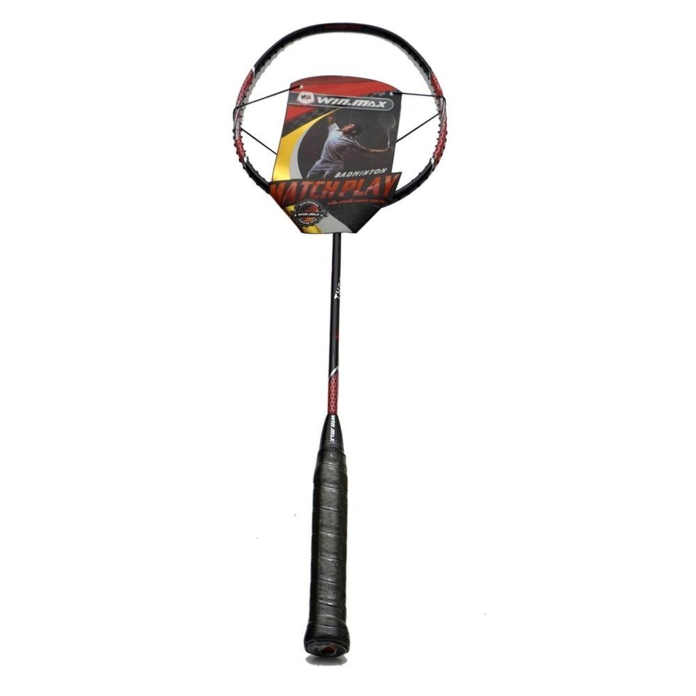 Raquete Badminton Thrones 400  Preta e Vermelha - Winmax