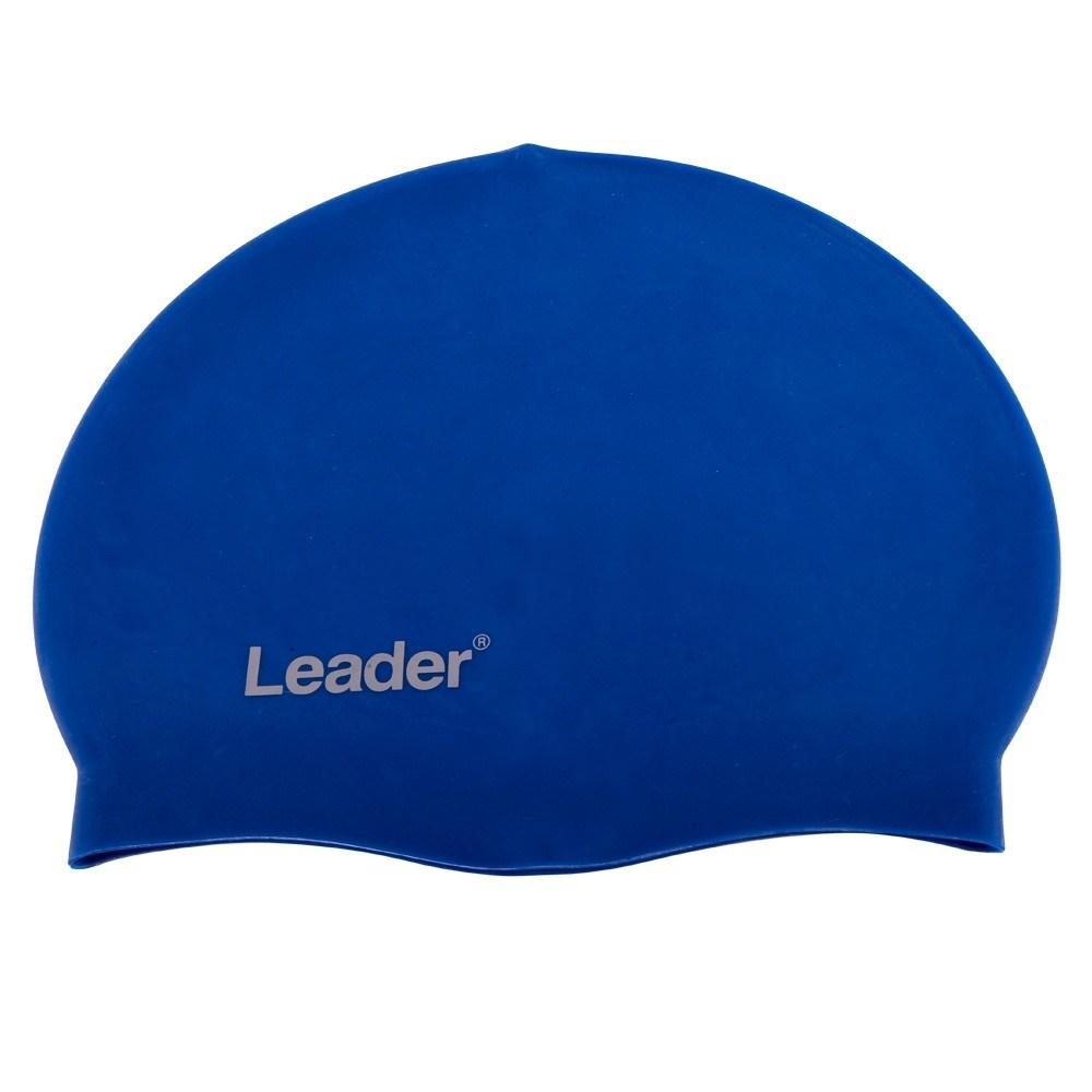 Touca para Natação de Silicone Leader LD224 Azul